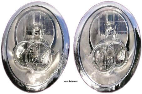 Faux headlight set style 3