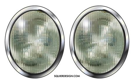 Faux headlight set style 6